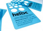 rulers transparent business cards frosted